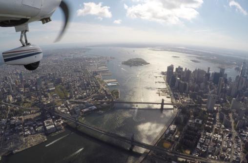 Самолетная прогулка над Нью-Йорком