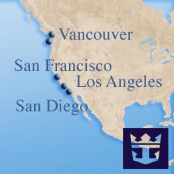 Круизы вдоль Западного побережья США и Канады Royal Caribbean