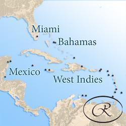 Круизы по Карибским, Багамским, Бермудским островам и Панамскому каналу Regent Seven Seas