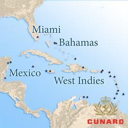 Карибские круизы Cunard