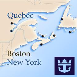Круизы вдоль северо-восточного побережья США и Канады Royal Caribbean