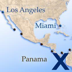 Круизы из Флориды в Калифорнию через Панамский канал Celebrity Cruises.