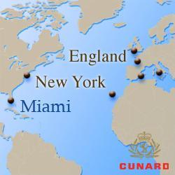 Трансатлантические круизы Cunard